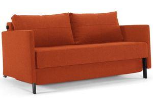 INNOVATION - canapé lit design cubed orange avec accoudoirs con - Canapé Lit