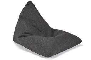 INNOVATION - innovation pouf design soft peak noir twist black - Pouf Poire