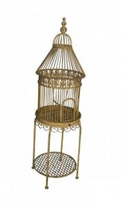 Demeure et Jardin - cage ronde sur pieds - Cage � Oiseaux
