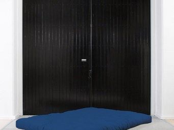 WHITE LABEL - matelas futon double latex bleu royal 140*200*18cm - Futon