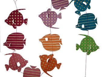 Lamali - guirlande poissons tropicaux à suspendre - Guirlande