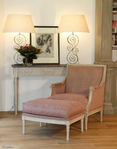 Jcb Interieurs -  - Fauteuil Et Pouf