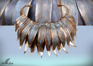 SZENDY GRINHILDA - feuilles de printemps - Collier