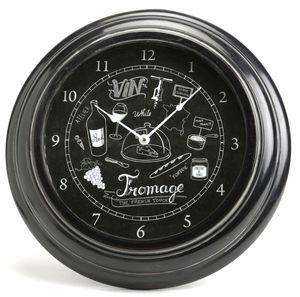 Amadeus - horloge pour cuisine vin & fromage - Horloge Murale