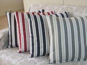 ITI  - Indian Textile Innovation - ticking stripe - Housse De Coussin