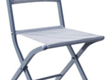 WILSA GARDEN - chaise pliante modulo (lot de 2) gris - Chaise De Jardin Pliante