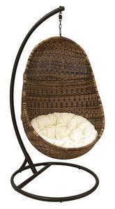 Aubry-Gaspard - fauteuil oeuf suspendu en résine - Balancelle