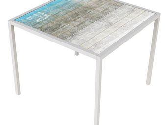TOUSMESMEUBLES - table de repas carr�e blanc mat - orae - l 90 x l - Table De Repas Carr�e