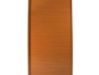 WHITE LABEL - colonne informatique à rideau merisier taille l - - Armoire De Bureau
