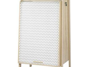 WHITE LABEL - armoire informatique à rideau - arkos n°4 - l 77 x - Armoire De Bureau
