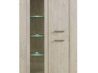 WHITE LABEL - vaisselier - humy - l 121 x l 45 x h 174 - bois - Vaisselier