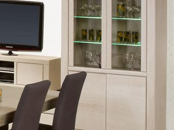 WHITE LABEL - vaisselier - irne - l 115 x l 48 x h 182 - bois - Vaisselier