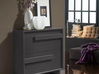 WHITE LABEL - meuble à chaussures cendre - storia n°1 - l 99 x l - Meuble À Chaussures