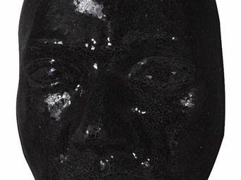 WHITE LABEL - masque design extase noir 66 cm - Masque