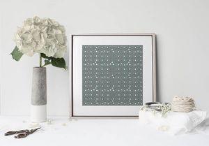 la Magie dans l'Image - print art anis vert-de-gris foncé - Estampe