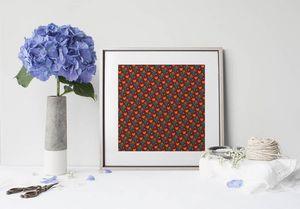 la Magie dans l'Image - print art héros petits coeurs orange - Estampe