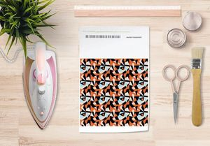 la Magie dans l'Image - papier transfert puzzle orange - Transfert