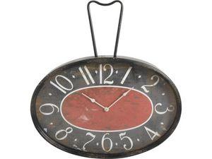 Aubry-Gaspard - horloge rétro en métal et verre - Horloge Murale