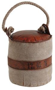 Aubry-Gaspard - cale-porte en coton et cuir - Cale Porte