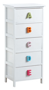 Aubry-Gaspard - commode alphabet 5 tiroirs - Commode Enfant