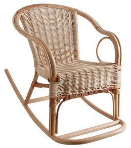 Aubry-Gaspard - fauteuil à bascule en rotin pour enfant - Rocking Chair