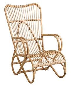 Aubry-Gaspard - fauteuil en manau naturel - Rocking Chair