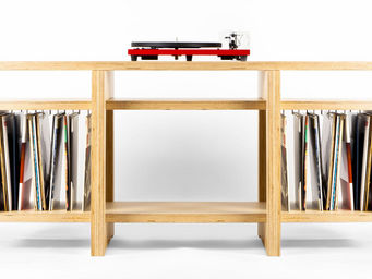 MALHERBE EDITION - meuble vinyles heroes - Meuble Tv Hi Fi