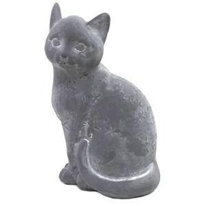 CHEMIN DE CAMPAGNE - statue sculpture chat en ciment 25 cm - Ornement De Jardin