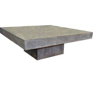 Mathi Design - table basse carrée en béton - Table Basse Carrée