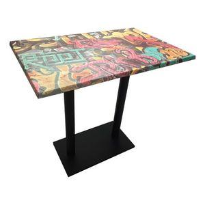 Mathi Design - table haute graffiti - Mange Debout
