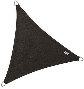 jardindeco - voile d'ombrage triangulaire coolfit noir 5 x 5 x - Voile D'ombrage