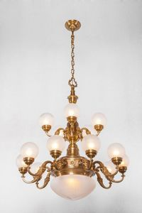PATINAS - pecs 15 armed chandelier - Lustre