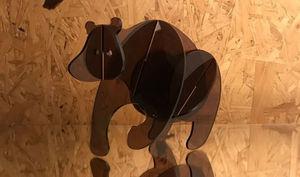 LES ALSACIENS DE PARIS - ours - Sculpture Animalière