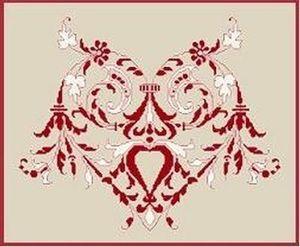 Anagram Diffusion - coeur rouge et blanc - Kit De Broderie
