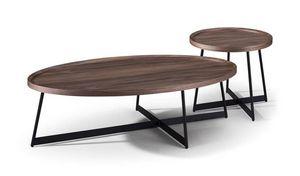 MAISONS DU MONDE - table de repas ovale 1419589 - Tables Gigognes