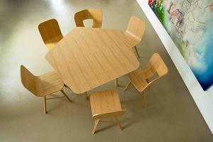 COLE - tria table penta - Table De Repas Carrée