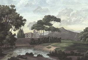 Ananbô - castel bellagio couleur vieillie et patinée - Papier Peint Panoramique