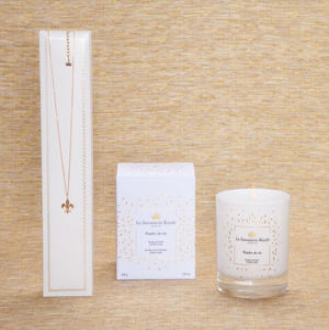 LA SAVONNERIE ROYALE - bougie poudre de riz avec collier - Bougie Parfumée