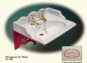 Thomas Crapper & Company - lavatory basin - Lavabo Suspendu
