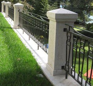 TENDANCE PIERRE - pilier en pierre de bourgogne - Chapeau De Pilier