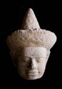 Aur�lie DoYe - khmer head, 12th century - T�te Humaine