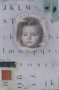 Natasha Kerr Fine Art Textiles - baby face - Tableau Décoratif