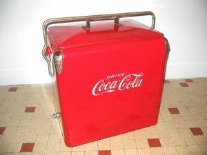 frantic - glacière coca-cola usa circa 1940 originale - Glacière