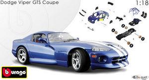 bburago - dodge viper gts coupé - Voiture Miniature