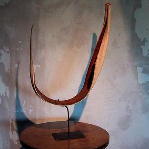 Objet de Curiosite - feuille de palmier - Sculpture V�g�tale
