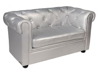 Miliboo - baby chesterfield argent� - Canap� Chesterfield