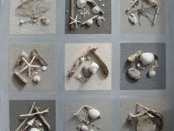 Coc'Art Créations - toile nature 1 m² cendre - Tableau Décoratif