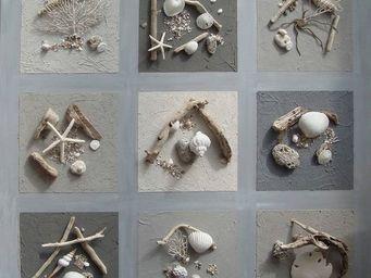 Coc'Art Cr�ations - toile nature 1 m� cendre - Tableau D�coratif