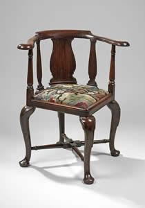 F P FINE ART - george ii corner chair - Chaise De Bureau