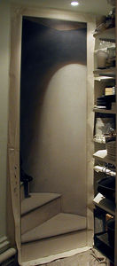 Gordon Collett Murals - trompe l'oeil staircase and shoe.. - Trompe L'oeil